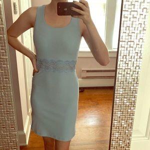 Le Chateau Short Sleeve Light Blue Dress